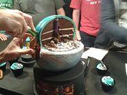 Alpha Metroid and Samus cake interior