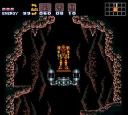 Entrance of norfair super metroid