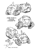 Halcón de Chatarra concepto tanque SyJ