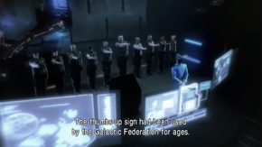 Galactic Federation Army - thumbs-up signs