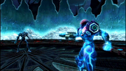 MP3 Samus encounters Dark Samus