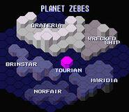 Mapa global de Zebes SM