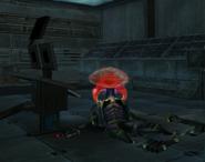 Metroid Talloniano atacando a un Pirata Espacial2
