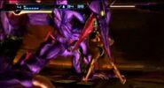 Samus realiza el Golpe de Gracia con Ridley MOM