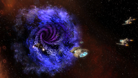 The Federation enter the Wormhole
