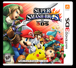 Super Smash Bros 3DS carátula