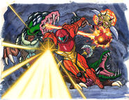 M2 Samus vs Metroids and Drivel Print Cell