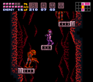 Zebesiano Rojo Super Metroid