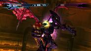 Samus atacando a Ridley Negro mom