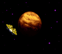 Planet Zebes and Gunship SM