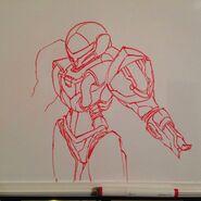 Kynan Pearson whiteboard drawing Samus