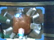 Escaneando puffo metalizado