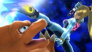 Samus Zero y Charizard SSB WiiU