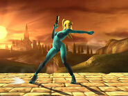 Zero Suit Samus Standard 1st Attack SSBB
