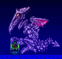 Baby metroid with Ridley