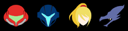 Metroid character SSBU icons