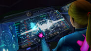 Zero Suit Samus Gunship interior display terminal HD