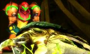 Cuscene Alpha Metroid's Husk and Samus MSR