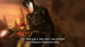 Galactic Federation Army - Samus fighting with them