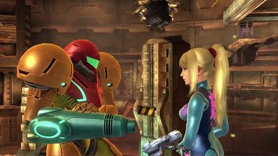 Samus in both forms
