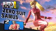 Zero Suit Samus red alternate costume (SSBU)