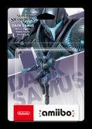 Amiibo de Samus Oscura en su caja
