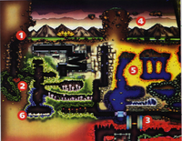 Super Metroid Players' Guide Zebes Map