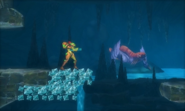 Metroid Samus Returns BigBug02 (1st Room) Noticing Samus (Area 2)