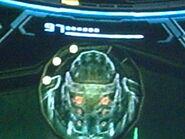 Cara de ghor en el proyector holográfico