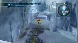 Ice bridge cavern - running on bridge