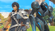 Dark Samus and Chrom