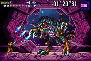 Samus contre le Metroid Omega