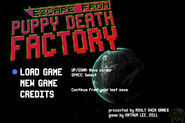 Escape from Puppy Death Factory menu