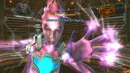 Gandrayda arrastrando su mano en el visor MP3