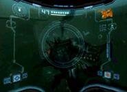 Anfisaurio debajo del agua