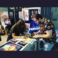 Isabel M Fernandez signing with MSR prints