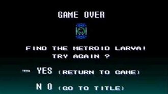Game Over - Super Metroid