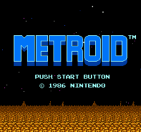 Metroid Nes Version Title Screen M1