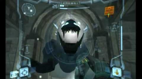 Metroid Prime Sheegoth battle