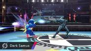 Samus Oscura disparando SSB Wii U