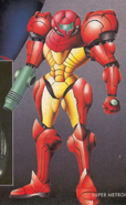 Super Metroid The Official Nintendo Game Guide - exclusive Samus art