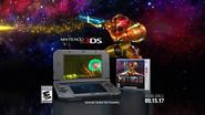 Metroid Samus Returns - Samus is Back 3DS display with Samus shooting