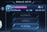 Modo Fusión en Pantalla de Samus MSR
