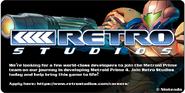 Retro Studios hiring for MP4 (Facebook)