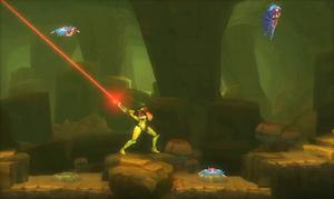 Metroid Samus Returns - Samus fighting creatures 2