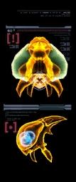 Escaneo del Metroid de Phazon (izquierda) MP3