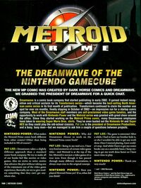 Metroid Prime comic contraportada
