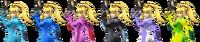 Zero Suit Samus Color Palette SSBB