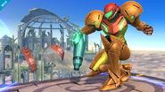 Samus agachada SSB Wii U