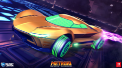 Nave de Samus arte Rocket League